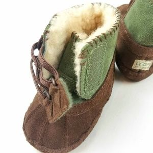UGG Shoes - Baby Uggs Green Brown Moccasin Booties Size 2/3